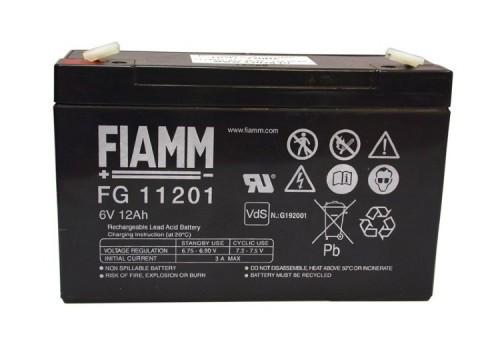 Аккумулятор FIAMM FG 11201 Номинальное напряжение - 6 В, Номинальная ёмкость - 12 Ач, Технология - AGM, Срок службы до 5 лет, Вес - 1,76 кг, Размеры - 151 мм (длина), 50 мм (ширина), 93 мм (высота).