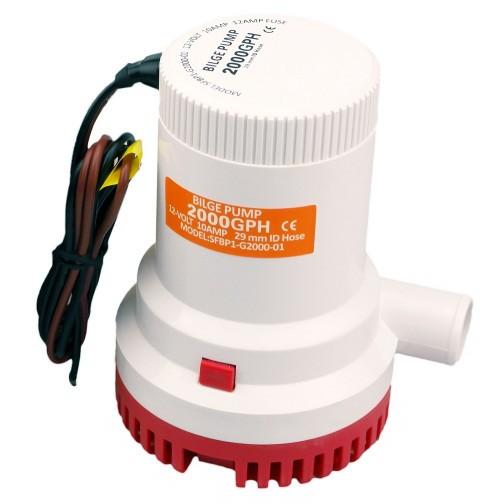 Погружной насос SFBP1-G2000-01 12 вольт Рабочее напряжение - 12 В,  Производительность  -7400 л/час Высота водяного столба (М) - 1-3 м Вес с упаковкой (брутто) - 1.21 кг Вес без упаковки (нетто) - 1.15 кг Провода (М) - 1 м