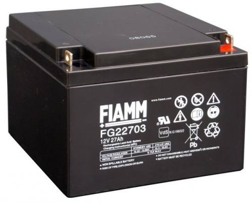 Аккумулятор FIAMM FG 22703 Номинальное напряжение - 12 В, Номинальная ёмкость - 27 Ач, Технология - AGM, Срок службы до 5 лет, Вес - 9 кг, Размеры - 166 мм (длина), 175 мм (ширина), 125 мм (высота).