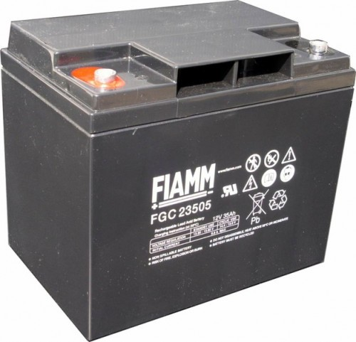 Аккумулятор FIAMM FGC 23505 Номинальная ёмкость - 35 Ач, Технология - AGM, Вес - 12700 грамм, Размеры - 196 мм (длина), 132 мм (ширина), 169 мм (высота)