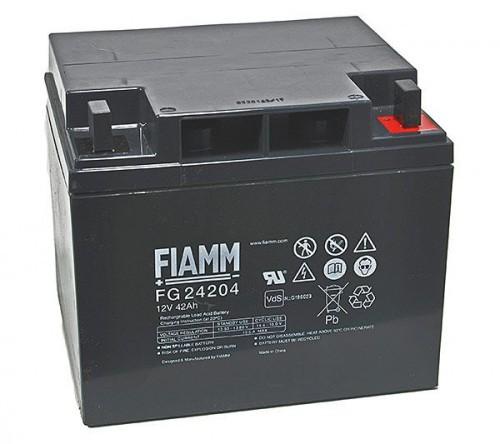 Аккумулятор FIAMM FG 24204 Номинальное напряжение - 12 В, Номинальная ёмкость - 42 Ач, Технология - AGM, Срок службы до 5 лет, Вес - 13,8 кг, Размеры - 197 мм (длина), 165 мм (ширина), 170 мм (высота).