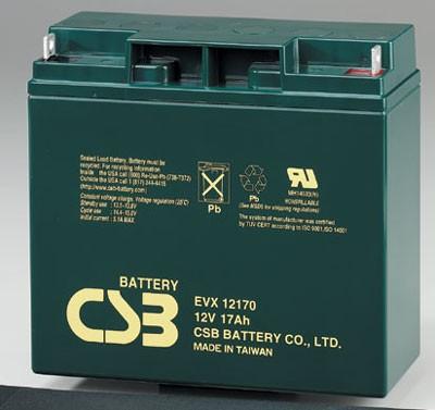 Аккумулятор CSB EVX 12170 Номинальная ёмкость - 17 Ач, Технология - AGM, Вес - 5,67 кг, Размеры -167 мм (высота), 181 мм (длина), 76 мм (ширина )