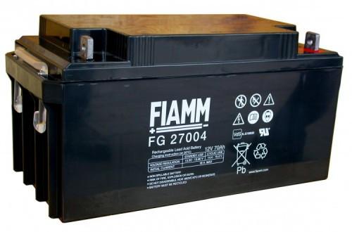 Аккумулятор FIAMM FG 27004 Номинальное напряжение - 12 В, Номинальная ёмкость - 70 Ач, Технология - AGM, Срок службы до 5 лет, Вес - 22,6 кг, Размеры - 350 мм (длина), 166 мм (ширина), 174 мм (высота).