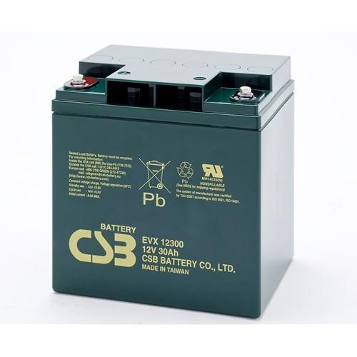 Аккумулятор CSB EVX 12300 Номинальная ёмкость - 30 Ач, Технология - AGM, Вес - 10,4 кг, Размеры -175 мм (высота), 166 мм (длина), 125 мм (ширина )