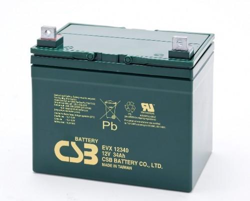 Аккумулятор CSB EVX 12340 Номинальная ёмкость - 34 Ач, Технология - AGM, Вес - 10,77 кг, Размеры -179 мм (высота), 196 мм (длина), 130 мм (ширина )