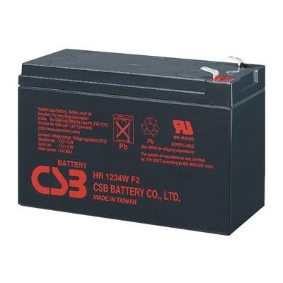 Аккумулятор CSB HR1234W Номинальное напряжение - 12 В,  Номинальная ёмкость - 9 Ач, Технология - AGM, Срок службы до 5 лет,  Вес - 2,5 кг, Размеры - 150.9 мм (длина), 64.8 мм (ширина), 98.6 мм (высота).