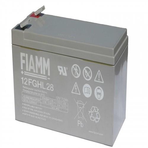 Аккумулятор FIAMM 12 FGHL 28 Аккумуляторы с повышенной энергоотдачей Номинальное напряжение - 12 В, Номинальная ёмкость -7,2 Ач, Технология - AGM, Срок службы до 10 лет, Вес - 2,65 кг, Размеры - 151 мм (длина), 65 мм (ширина), 94 мм (высота).