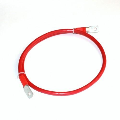 Комплект кабелей 0,5м сечением 35 кв.мм для аккумуляторов Длина каждого кабеля: 500 мм. Максимальное напряжение: 300 Вольт Максимальный ток: 140 Ампер.  Рабочая температура: -40 ~ +85°С градусов.  Сечение 35 мм2 соответствует диаметру 9.4 мм многожильного провода.