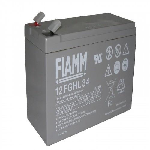 Аккумулятор FIAMM 12 FGHL 34 Аккумуляторы с повышенной энергоотдачей Номинальное напряжение - 12 В, Номинальная ёмкость - 9 Ач, Технология - AGM, Срок службы до 10 лет, Вес - 2,85 кг, Размеры - 151 мм (длина), 65 мм (ширина), 94 мм (высота).