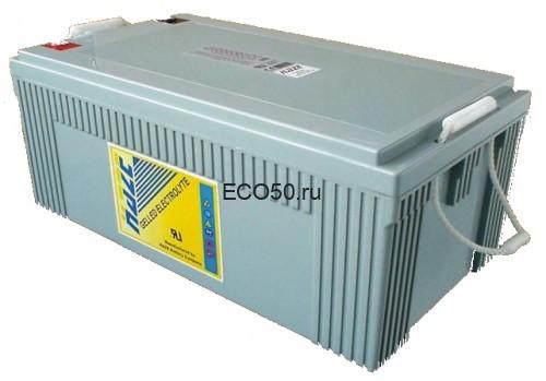 Аккумулятор Haze HZY12-230 (гелевый HZY 12-230) Необслуживаемая герметизированная аккумуляторная батарея HZY12-230 производства HAZE (Англия - КНР) изготовлена по технологии GEL. 12 вольт, 230 Ач, срок службы в буферном режиме (режим без циклов разряда-заряда) 12 лет. Размер 521х269х203 мм, вес 71 кг.