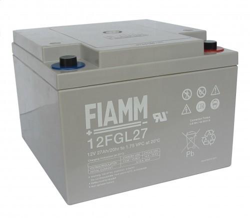 Аккумулятор FIAMM 12 FGL 27 Номинальное напряжение - 12 В, Номинальная ёмкость - 27 Ач, Технология - AGM, Срок службы до 10 лет, Вес - 9 кг, Размеры - 166 мм (длина), 175 мм (ширина), 125 мм (высота).