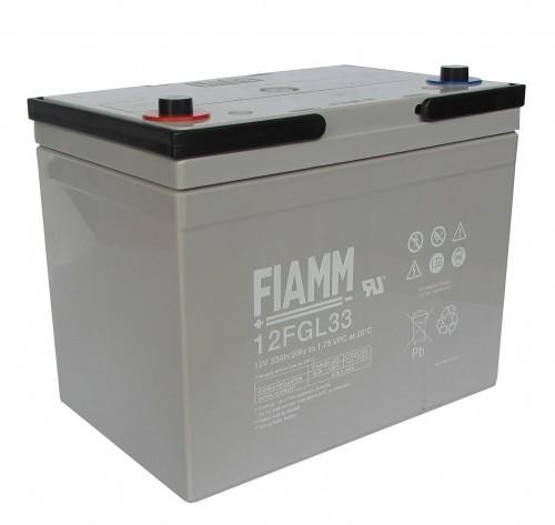 Аккумулятор FIAMM 12 FGL 33 Номинальное напряжение - 12 В, Номинальная ёмкость -33 Ач, Технология - AGM, Срок службы до 10 лет, Вес - 11,5 кг, Размеры - 196 мм (длина), 130 мм (ширина), 159 мм (высота).