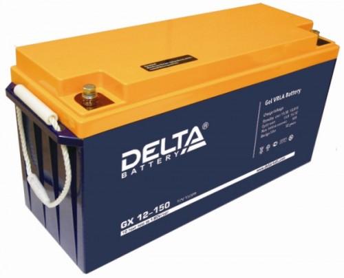 Аккумулятор DELTA GX 12-150 Номинальная ёмкость - 150 Ач, Номинальное напряжение - 12 В, Технология - GEL, Срок службы до 12 лет, Вес - 47 кг, Размеры - 482 мм (длина), 170 мм (ширина), 240 мм (высота).