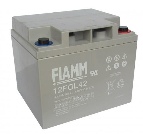 Аккумулятор FIAMM 12 FGL 42 Номинальное напряжение - 12 В, Номинальная ёмкость - 42 Ач, Технология - AGM, Срок службы до 10 лет, Вес - 13,8 кг, Размеры - 197 мм (длина), 165 мм (ширина), 170 мм (высота).