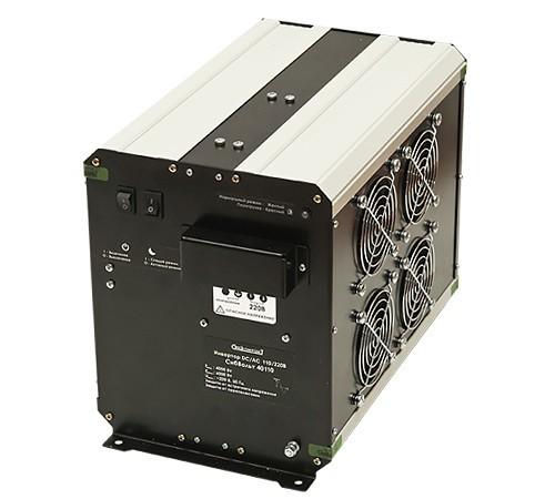 Инвертор СибВольт 40110 DC-AC 2000Вт/110В чистый синус Выходное напряжение  220 В, 50 Гц. Синусоидальное, Входное напряжение 92 - 150 В, Номинальная мощность 4000 Вт, Максимальная мощность 6000 Вт (в течение 5 сек.), Диапазон рабочих температур -10 +40 °C, КПД 90 %, Размеры 345х201х242 мм, Вес 7,2 кг.