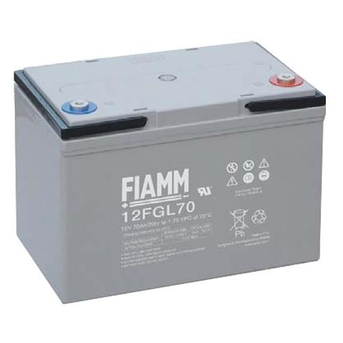 Аккумулятор FIAMM 12 FGL 70 Номинальное напряжение - 12 В, Номинальная ёмкость - 70 Ач, Технология - AGM, Срок службы до 10 лет, Вес - 22,4 кг, Размеры - 272 мм (длина), 166 мм (ширина), 191 мм (высота).