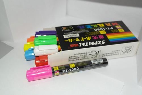 Набор флуоресцентных маркеров PT1080 для флеш панелей 6 мм 8 шт. Набор флуоресцентных маркеров для флеш панелей 6 мм 8 шт.