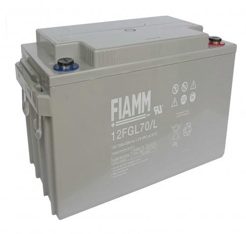 Аккумулятор FIAMM 12 FGL 70 L Номинальное напряжение - 12 В, Номинальная ёмкость - 70 Ач, Технология - AGM, Срок службы до 10 лет, Вес - 22,6 кг, Размеры - 350 мм (длина), 166 мм (ширина), 175 мм (высота).