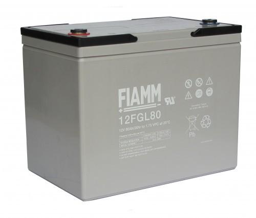 Аккумулятор FIAMM 12 FGL 80 Номинальное напряжение - 12 В, Номинальная ёмкость - 80 Ач, Технология - AGM, Срок службы до 10 лет, Вес - 25,3 кг, Размеры - 259 мм (длина), 168 мм (ширина), 208 мм (высота).