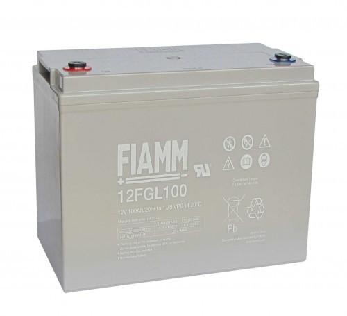 Аккумулятор FIAMM 12 FGL 100 Номинальное напряжение - 12 В, Номинальная ёмкость - 100 Ач, Технология - AGM, Срок службы до 10 лет, Вес - 32 кг, Размеры - 329 мм (длина), 172 мм (ширина), 214 мм (высота).