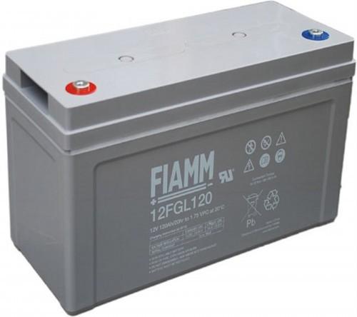 Аккумулятор FIAMM 12 FGL 120 Номинальное напряжение - 12 В, Номинальная ёмкость - 120 Ач, Технология - AGM, Срок службы до 10 лет, Вес - 37,7 кг, Размеры - 407 мм (длина), 173 мм (ширина), 220 мм (высота).