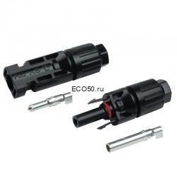 Коннектор для солнечных батарей стандарт MC4 для кабеля универсальный Коннектор для солнечных батарей стандарт MC4 для кабеля универсальный до 10 мм²