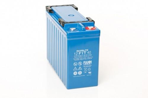 Аккумулятор FIAMM 12 FIT 40 Номинальное напряжение - 12 В, Номинальная ёмкость - 40 Ач, Технология - AGM, Срок службы до 12 лет, Вес - 15,2 кг, Размеры - 280 мм (длина), 105 мм (ширина), 198 мм (высота).