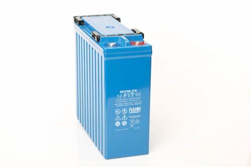 Аккумулятор FIAMM 12 FIT 60 Номинальное напряжение - 12 В, Номинальная ёмкость - 40 Ач, Технология - AGM, Срок службы до 12 лет, Вес - 21 кг, Размеры - 280 мм (длина), 105 мм (ширина), 260 мм (высота).