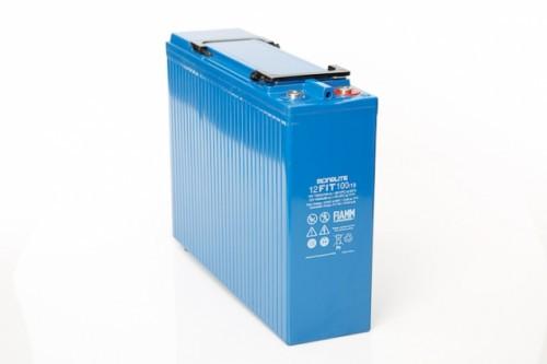 Аккумулятор FIAMM 12 FIT 100/19 Номинальная ёмкость - 100 Ач,  Технология - AGM,  Вес - 33.0 кг,  Размеры - 395 мм (длина), 108 мм (ширина), 287 мм (высота)