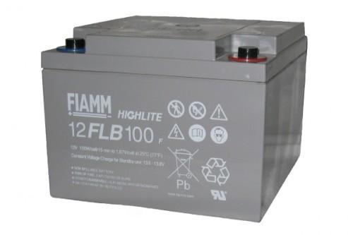 Аккумулятор FIAMM 12 FLB 100 P Номинальное напряжение - 12 В, Номинальная ёмкость - 26 Ач, Технология - AGM, Срок службы до 12 лет, Вес - 9,4 кг, Размеры - 166 мм (длина), 175 мм (ширина), 125 мм (высота).