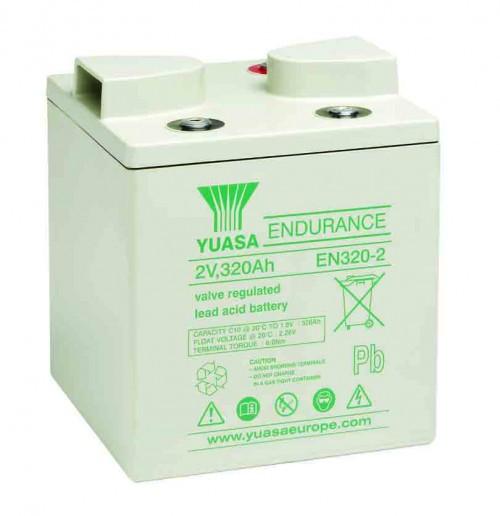 Аккумулятор Yuasa EN 320-2 Аккумуляторная батарея Yuasa EN 320-2, 2 В, 326 Ач, оптимальна для использования в устройствах электропитания систем телекоммуникаций, ИБП.