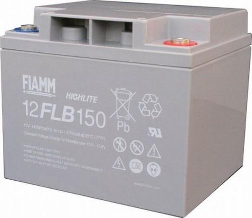 Аккумулятор FIAMM 12 FLB 150 P Номинальное напряжение - 12 В, Номинальная ёмкость - 40 Ач, Технология - AGM, Срок службы до 12 лет, Вес - 14 кг, Размеры - 197 мм (длина), 165 мм (ширина), 170 мм (высота).