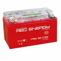 Аккумулятор для мототехники RED ENERGY RE 12-08 (YT7B-BS, YT7B-4, YT9B-BS)