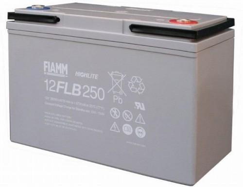 Аккумулятор FIAMM 12 FLB 250 P Номинальное напряжение - 12 В, Номинальная ёмкость - 70 Ач, Технология - AGM, Срок службы до 12 лет, Вес - 22 кг, Размеры - 272 мм (длина), 166 мм (ширина), 195 мм (высота).