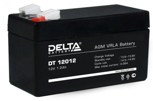 Аккумулятор DELTA DT 12012 Номинальная ёмкость - 1,2 Ач, Номинальное напряжение - 12 В, Технология - AGM, Срок службы до 5 лет, Вес - 0,58 кг, Размеры - 97 мм (длина), 44 мм (ширина), 53 мм (высота).