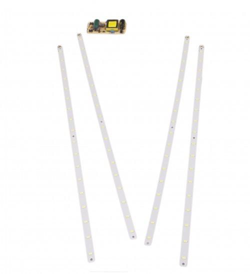 Комплект для модернизации и производства светильников Армстронг 6000К Мощность: 36 ватт  Напряжение: 220 вольт  Количество LED линеек: 4 штуки  Цветовая температура: 6000K