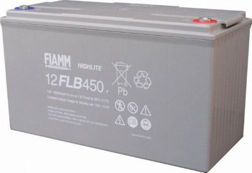 Аккумулятор FIAMM 12 FLB 450 P Номинальное напряжение - 12 В, Номинальная ёмкость - 120 Ач, Технология - AGM, Срок службы до 12 лет, Вес - 38 кг, Размеры - 379 мм (длина), 174 мм (ширина), 218 мм (высота).