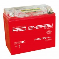 Аккумулятор для мототехники RED ENERGY RE 12-14 (YTX14-BS, YTX14H-BS, YTX16-BS, YB16B-A)