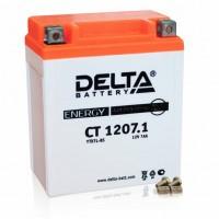 Аккумулятор для мототехники DELTA CT 1207.1  12В 7Ач (YTX7L-BS)