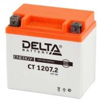 Аккумулятор для мототехники DELTA CT 1207.2  12В 7Ач (YTZ7S)