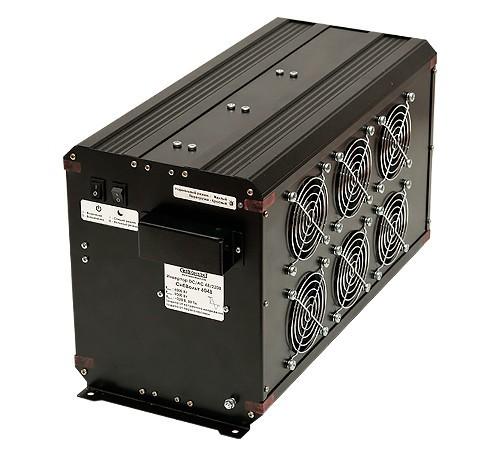 Инвертор СибВольт 6048 DC-AC 6000Вт/48В чистый синус Выходное напряжение  220 В, 50 Гц. Синусоидальное, Входное напряжение 40 - 60 В, Номинальная мощность 6000 Вт, Максимальная мощность 9000 Вт (в течение 5 сек.), Диапазон рабочих температур -10 +40 °C, КПД 90 %, Размеры 448х201х242 мм, Вес 10,8 кг.