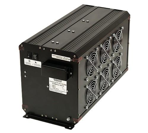 Инвертор СибВольт 60110 DC-AC 6000Вт/110В чистый синус Выходное напряжение  220 В, 50 Гц. Синусоидальное, Входное напряжение 92 - 150 В, Номинальная мощность 6000 Вт, Максимальная мощность 9000 Вт (в течение 5 сек.), Диапазон рабочих температур -10 +40 °C, КПД 90 %, Размеры 448х201х242 мм, Вес 10,8 кг.