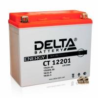 Аккумулятор для мототехники DELTA CT 12201 12В 20Ач (YTX20L-BS, YTX20HL-BS, YB16L-B, YB18L-A)