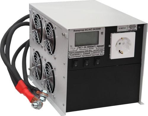 Инвертор ИС1-24-4000 ЖК-экран 4000Вт/24В чистый синус Выходное напряжение  220 В, 50 Гц. Синусоидальное Входное напряжение 21 - 30 В Мощность 4000 Вт, максимальная 6000 Вт (в течение 5 сек.) Диапазон рабочих температур -30 +40 0С КПД 92% Размеры 206х285х198 мм Длина проводов 50 см (возможно увеличение длины под заказ) Вес 7,2 кг.