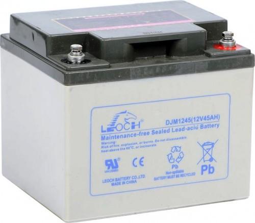 Аккумулятор LEOCH DJM1245 Номинальное напряжение - 12 В,  Номинальная ёмкость - 45 Ач, Технология - AGM, Вес - 14,5 кг, Размеры - 197 мм (длина), 165 мм (ширина), 170 мм (высота).