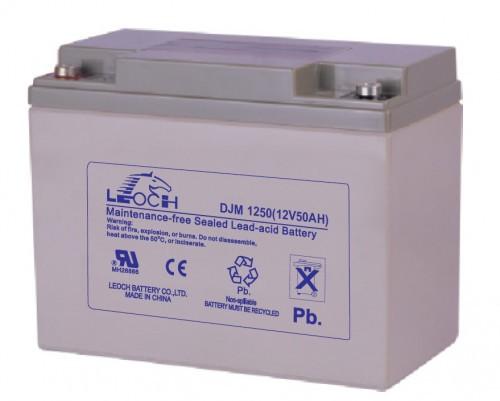 Аккумулятор LEOCH DJM1250 Номинальное напряжение - 12 В,  Номинальная ёмкость - 50 Ач, Технология - AGM, Вес - 15,7 кг, Размеры - 257 мм (длина), 132 мм (ширина), 200 мм (высота).