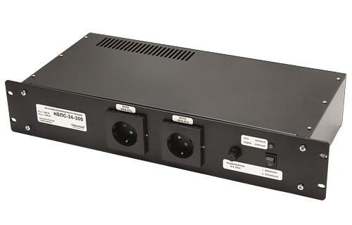 ИБПС-24-300 источник бесперебойного питания Зарядное устройство - отсутствует, Входное напряжение (DC) 21-30 В, Входное напряжение (AC) 190-245 В, Выходное напряжение 220 В; 50 Гц. Синусоидальное, Мощность 100 Вт, Максимальная мощность 600 Вт (в течение 2 сек.), Материал корпуса: металл, Габариты 85х478х240 мм (2U 19''), Вес 3,2 кг