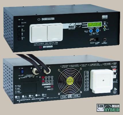Инвертор МАП SIN Энергия HYBRID 48В 6кВт Максимальная мощность - 6000 Вт, Номинальная мощность - 4000 Вт, Пиковая мощность - 9000 Вт, Напряжение - 48 В, Зарядный ток - 50 А, КПД - 96%, Вес - 30.1 кг, Размеры - 210 мм (высота), 370 мм (длина), 510 мм (ширина).