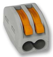 Клемма 2-х контактная с пруж. зажимом