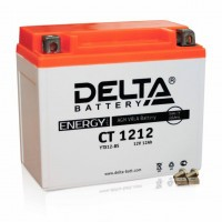 Аккумулятор для мототехники DELTA CT 1212 12В 12Ач (YTX14-BS, YTX12-BS)